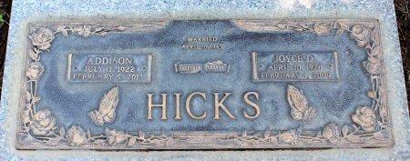 HICKS, ADDISON - Sacramento County, California   ADDISON HICKS - California Gravestone Photos
