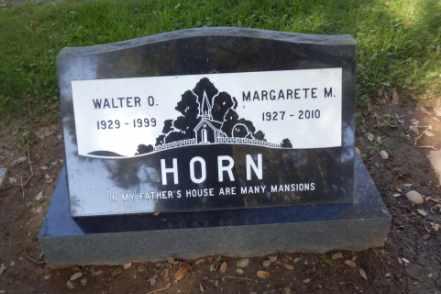 HORN, MARGARETE - Sacramento County, California | MARGARETE HORN - California Gravestone Photos