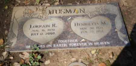 HUSMAN, HENRIETTA - Sacramento County, California | HENRIETTA HUSMAN - California Gravestone Photos