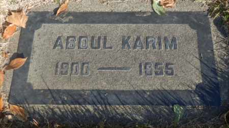 KARIM, ABDUL - Sacramento County, California   ABDUL KARIM - California Gravestone Photos
