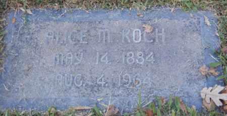 KOCH, ALICE - Sacramento County, California | ALICE KOCH - California Gravestone Photos