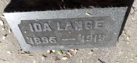 SYBRANDT LANGE, IDA - Sacramento County, California | IDA SYBRANDT LANGE - California Gravestone Photos