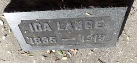 LANGE, IDA - Sacramento County, California   IDA LANGE - California Gravestone Photos