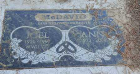MCDAVID, JOEL - Sacramento County, California   JOEL MCDAVID - California Gravestone Photos