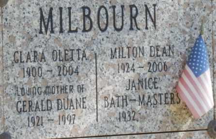 MILBOURN, JANICE - Sacramento County, California | JANICE MILBOURN - California Gravestone Photos