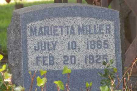 MILLER, MARIETTA - Sacramento County, California   MARIETTA MILLER - California Gravestone Photos