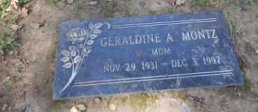 MONTZ, GERALDINE - Sacramento County, California | GERALDINE MONTZ - California Gravestone Photos