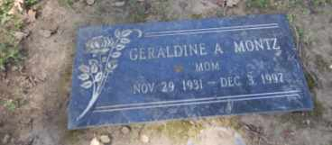 MONTZ, GERALDINE - Sacramento County, California   GERALDINE MONTZ - California Gravestone Photos
