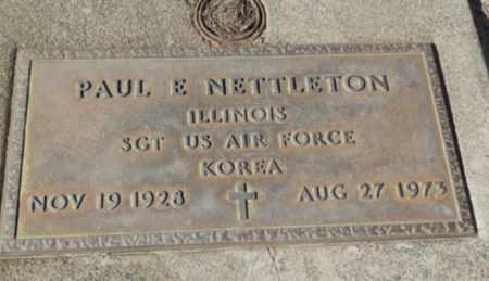 NETTLETON, PAUL E - Sacramento County, California | PAUL E NETTLETON - California Gravestone Photos
