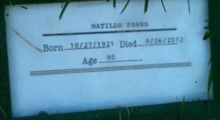 PARKS, MATILDA - Sacramento County, California   MATILDA PARKS - California Gravestone Photos