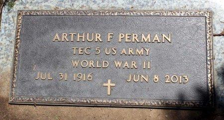 PERMAN, ARTHUR F> - Sacramento County, California | ARTHUR F> PERMAN - California Gravestone Photos