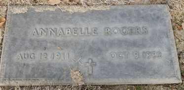 ROGERS, ANNABELLE - Sacramento County, California | ANNABELLE ROGERS - California Gravestone Photos