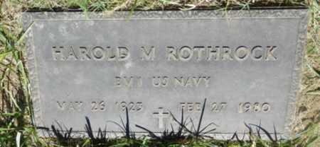 ROTHROCK, HAROLD - Sacramento County, California | HAROLD ROTHROCK - California Gravestone Photos