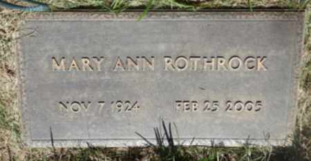 ROTHROCK, MARY - Sacramento County, California | MARY ROTHROCK - California Gravestone Photos