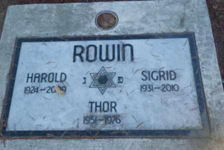 ROWIN, SIGRID - Sacramento County, California | SIGRID ROWIN - California Gravestone Photos