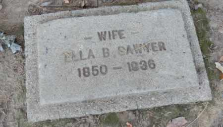 SAWYER, ELLA - Sacramento County, California | ELLA SAWYER - California Gravestone Photos
