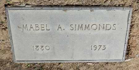SIMMONDS, MABEL - Sacramento County, California | MABEL SIMMONDS - California Gravestone Photos
