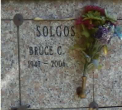 SOLGOS, BRUCE - Sacramento County, California | BRUCE SOLGOS - California Gravestone Photos