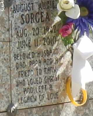 SORGEA, AUGUST - Sacramento County, California | AUGUST SORGEA - California Gravestone Photos