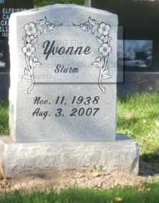 STURM, YVONNE - Sacramento County, California   YVONNE STURM - California Gravestone Photos