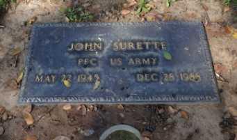 SURETTE, JOHN - Sacramento County, California | JOHN SURETTE - California Gravestone Photos