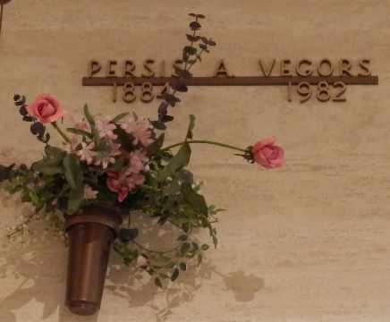 VEGORS, PERSIS - Sacramento County, California   PERSIS VEGORS - California Gravestone Photos