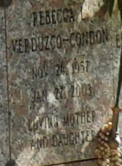 VERDUCZO-CONDON, REBECCA - Sacramento County, California | REBECCA VERDUCZO-CONDON - California Gravestone Photos
