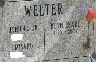 WELTER, RUTH - Sacramento County, California | RUTH WELTER - California Gravestone Photos