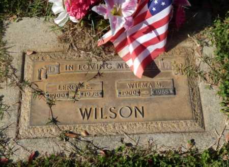 WILSON, LEROY E - Sacramento County, California   LEROY E WILSON - California Gravestone Photos