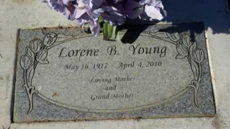 YOUNG, LORENE B - Sacramento County, California   LORENE B YOUNG - California Gravestone Photos