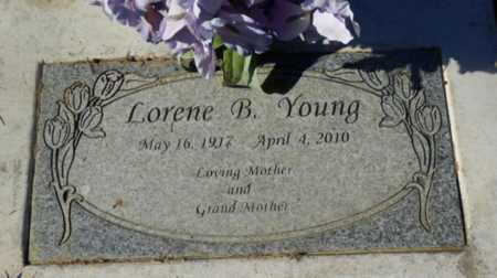 YOUNG, LORENE B - Sacramento County, California | LORENE B YOUNG - California Gravestone Photos