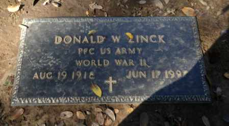 ZINCK, DONALD - Sacramento County, California | DONALD ZINCK - California Gravestone Photos