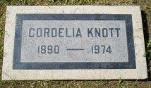 KNOTT, CORDELIA - San Bernardino County, California | CORDELIA KNOTT - California Gravestone Photos