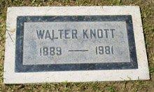 KNOTT, WALTER MARVIN - San Bernardino County, California | WALTER MARVIN KNOTT - California Gravestone Photos