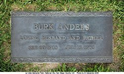 ANDERS, BURK - San Diego County, California   BURK ANDERS - California Gravestone Photos