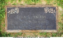 LEE ANDERS, EULA - San Diego County, California | EULA LEE ANDERS - California Gravestone Photos