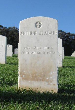 ABAIR, ARTHUR J. - San Francisco County, California   ARTHUR J. ABAIR - California Gravestone Photos