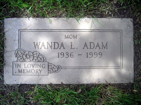 ADAM, WANDA LUE - San Joaquin County, California | WANDA LUE ADAM - California Gravestone Photos