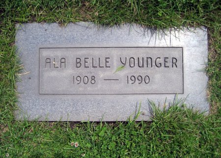 YOUNGER, ALA BELLE - San Joaquin County, California | ALA BELLE YOUNGER - California Gravestone Photos