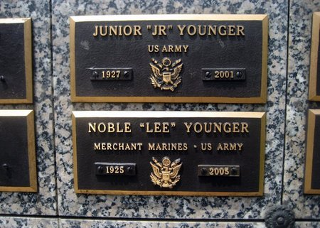 """YOUNGER, NOBLE """"LEE"""" - San Joaquin County, California 