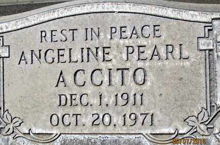 ACCITO, ANGELINE PEARL - Sutter County, California | ANGELINE PEARL ACCITO - California Gravestone Photos