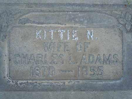 ADAMS, KITTIE NELSON - Sutter County, California   KITTIE NELSON ADAMS - California Gravestone Photos