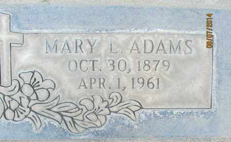 ADAMS, MARY L. - Sutter County, California | MARY L. ADAMS - California Gravestone Photos