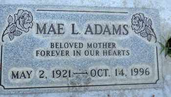 ADAMS, MABEL L. - Sutter County, California | MABEL L. ADAMS - California Gravestone Photos