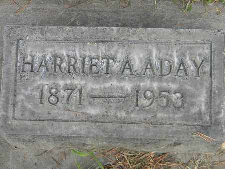 ADAY, HARRIET A. - Sutter County, California | HARRIET A. ADAY - California Gravestone Photos