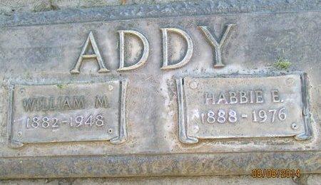 ADDY, HABBIE ELIZABETH - Sutter County, California | HABBIE ELIZABETH ADDY - California Gravestone Photos