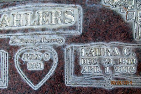 AHLERS, LAURA CATHERINA - Sutter County, California | LAURA CATHERINA AHLERS - California Gravestone Photos