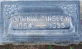 AINSLEY, JOHN WILLIAM - Sutter County, California | JOHN WILLIAM AINSLEY - California Gravestone Photos
