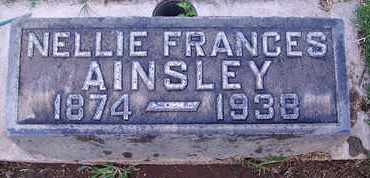 AINSLEY, NELLIE FRANCES - Sutter County, California   NELLIE FRANCES AINSLEY - California Gravestone Photos
