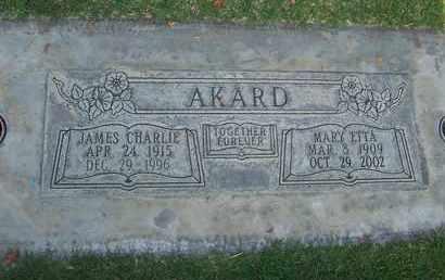 AKARD, MARY ETTA - Sutter County, California   MARY ETTA AKARD - California Gravestone Photos
